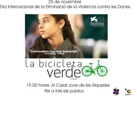 cartell bicicleta verda